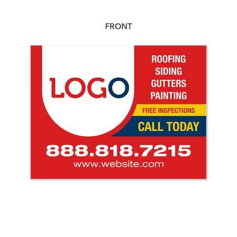 roofers yard sign