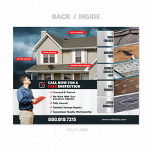 Load image into Gallery viewer, types of roof damage brochure design