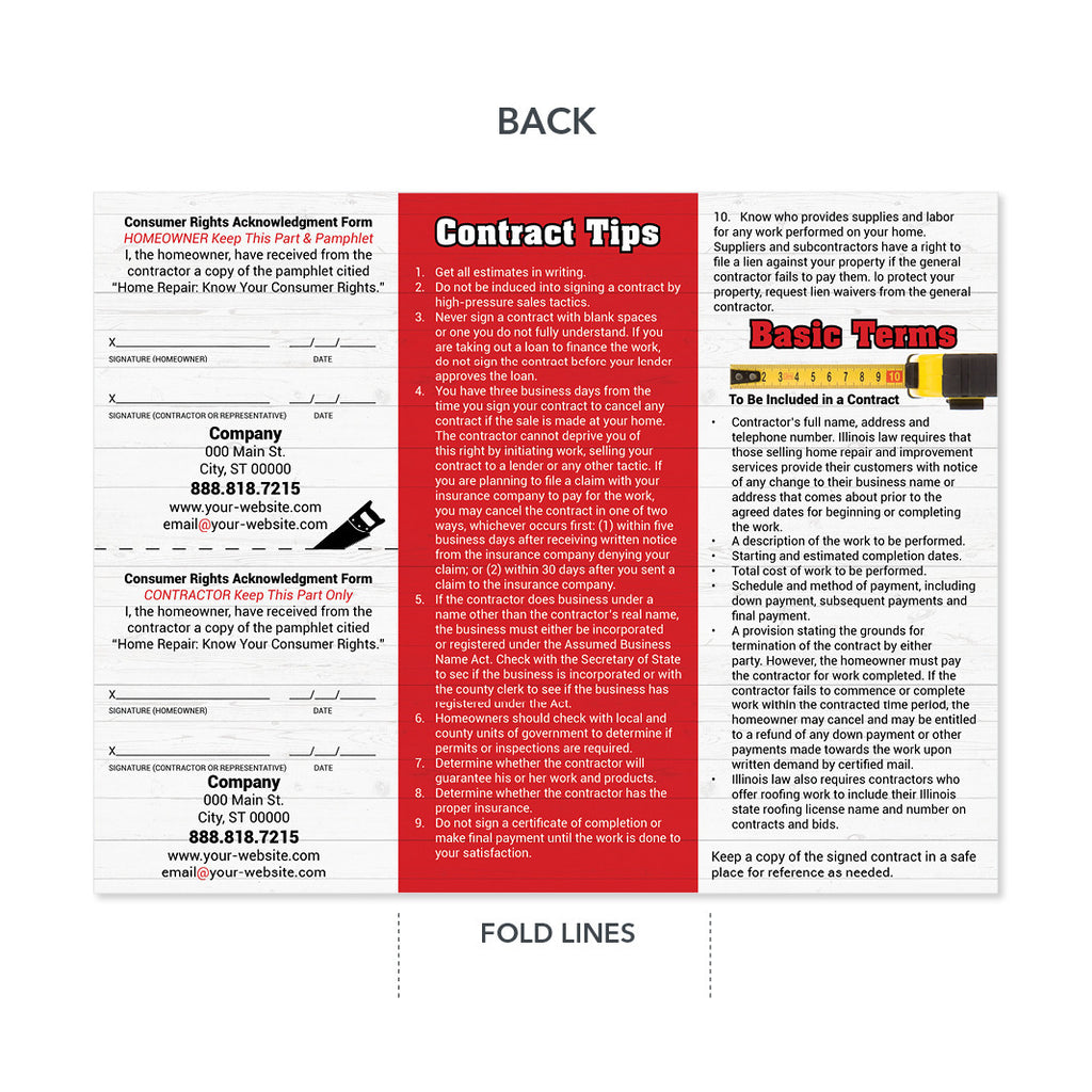 Contractor Trifold Brochure High Quality Design Print