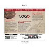 roof damage brochure for roofers