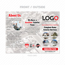 Load image into Gallery viewer, roof damage trifold brochure design