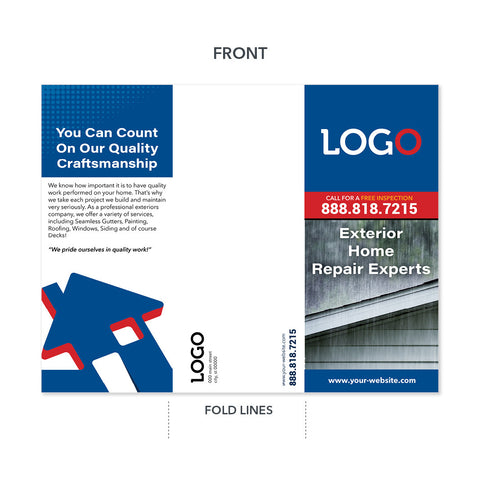 storm damage trifold brochure