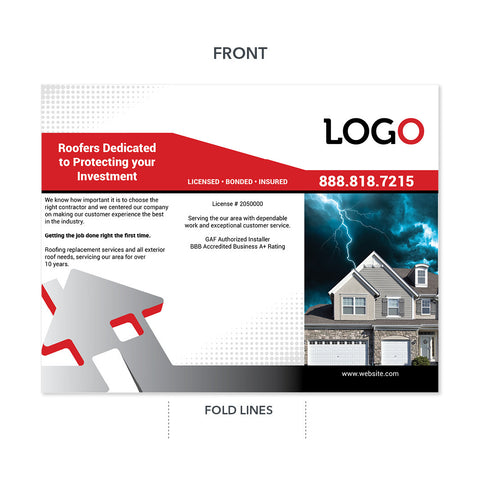 storm damage house brochure
