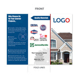 roofing contractor trifold brochure