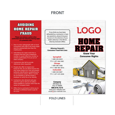 contractor home repair tips brochure