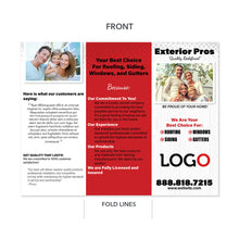Load image into Gallery viewer, exterior home contractor brochure