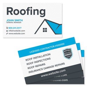 roofing business card design