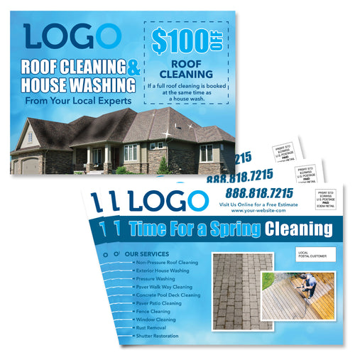 house washing and roof cleaning eddm postcard