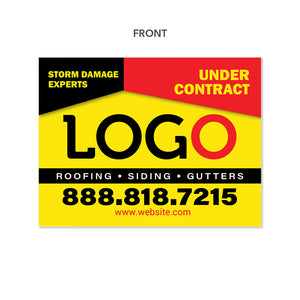 storm damage yard sign for roofers