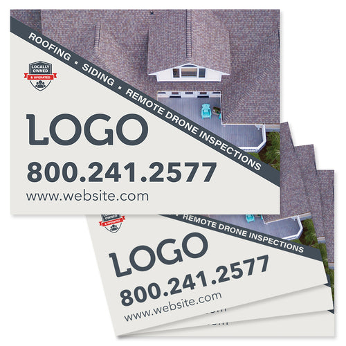 drone inspection yard signs for roofers