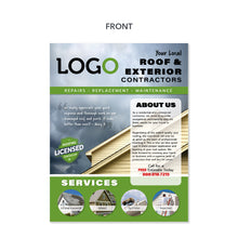 Load image into Gallery viewer, roofing contractor flyer