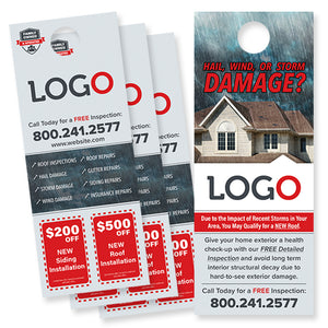 hail damage roofing door hanger design