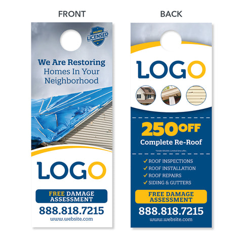 roofing replacement door hanger