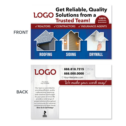 roofing postcard for realtors and insurance agents
