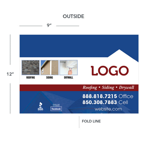roofing siding drywall presentation folder