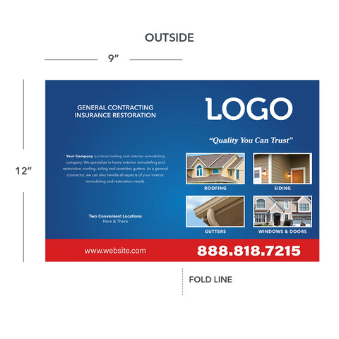 presentation folder for roofing window siding