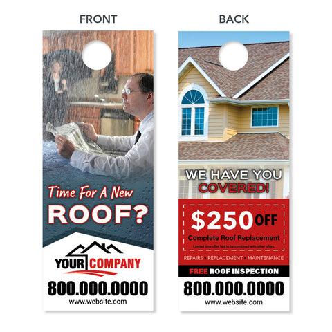 roof replacement door hanger