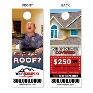 roof replacement door hanger for roofing company