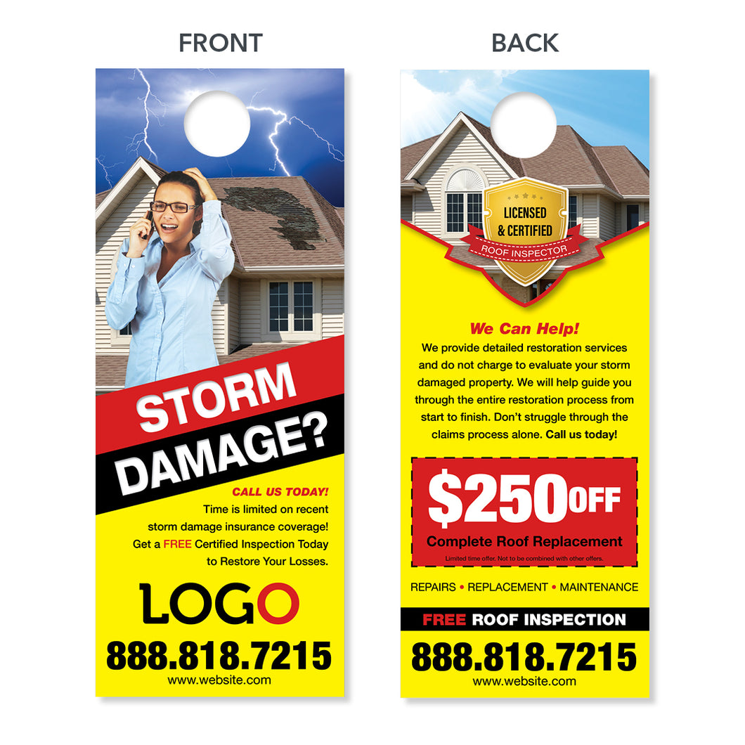 storm roof damage door hanger