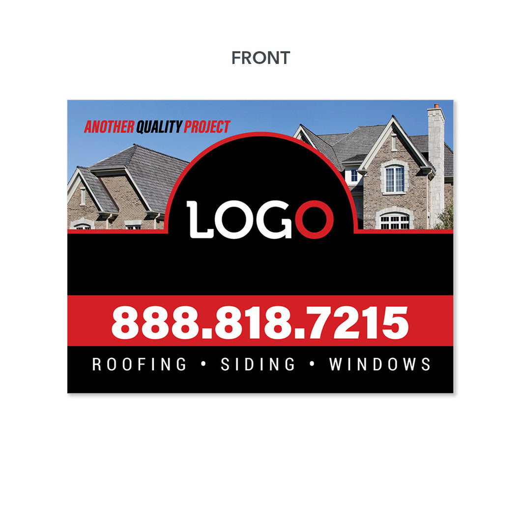 roofing siding gutters yard sign