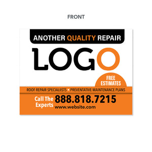 roof repair and maintenance yard sign