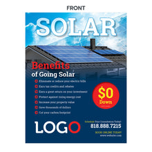 Load image into Gallery viewer, solar power benefits flyer