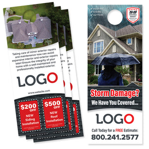 storm damage roofing door hanger