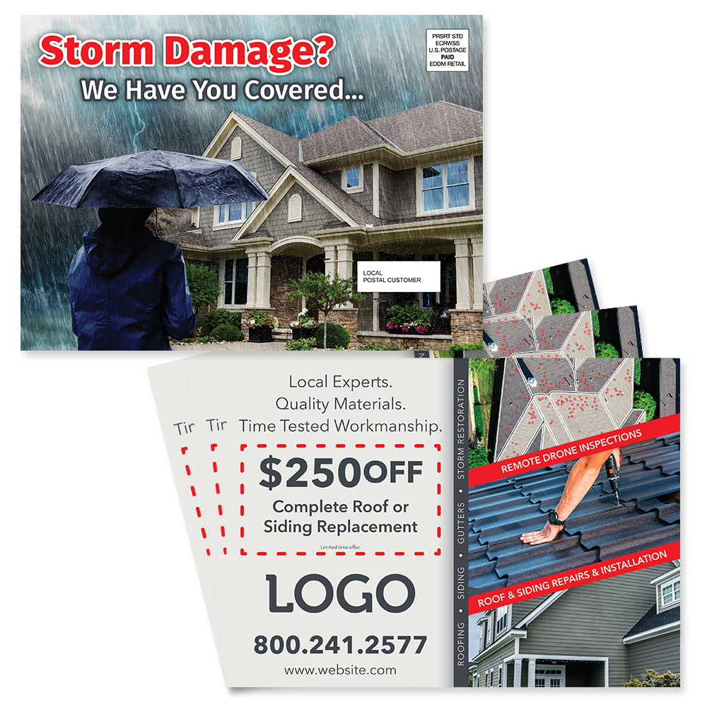 storm damage eddm roofing postcard