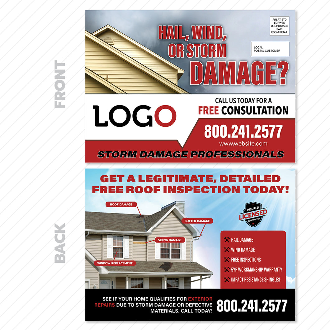storm damage eddm postcard for roofers