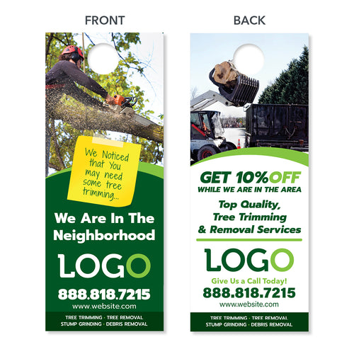 tree removal door hanger design