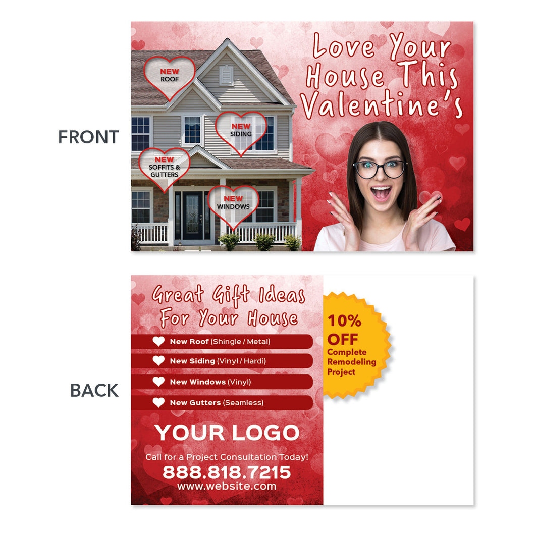 valentine roofers holiday postcard