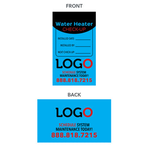 water heater equipment tags