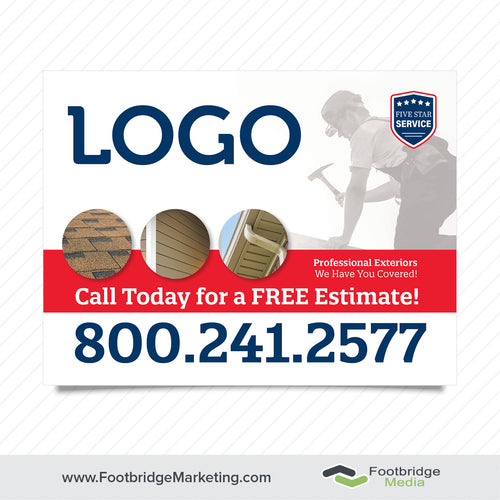 roofing yard sign design