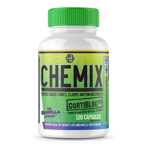 Image of CHEMIX CORTIBLOC-(SCIENCE BASED CORTISOL BLOCKER FORMULATED BY THE GUERRILLA CHEMIST)