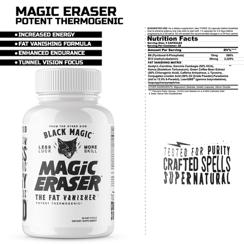 BLACK MAGIC SUPPLY- MAGIC ERASER ULTRA PREMIUM FAT LOSS FORMULA