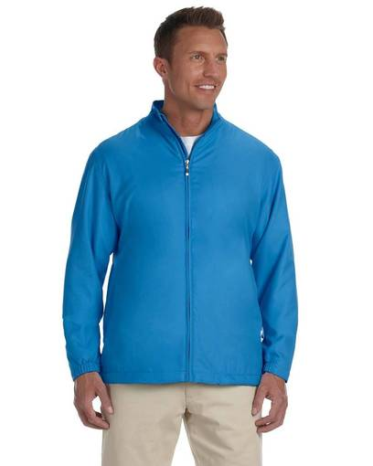 Ashworth 5378 Men's Full Zip Lined Wind Jacket 3XL- 4XL Azure Blue