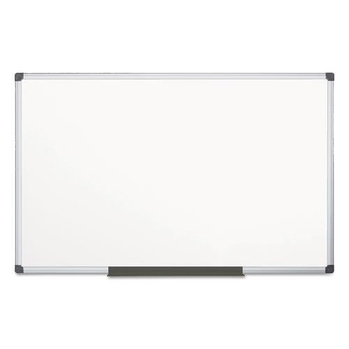 BVCMA2107170 MasterVision Value Lacquered Steel Magnetic Dry Erase Board, 48 x 96, White, Aluminum Frame
