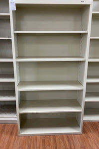 TNNB66PY Tennsco Metal Bookcase, Five-Shelf, 34-1/2w x 13-1/2d x 66h, Putty