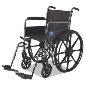 MIIMDS806150EE Medline Excel K1 Basic Wheelchair, 18w x 16d, 300 lb Capacity