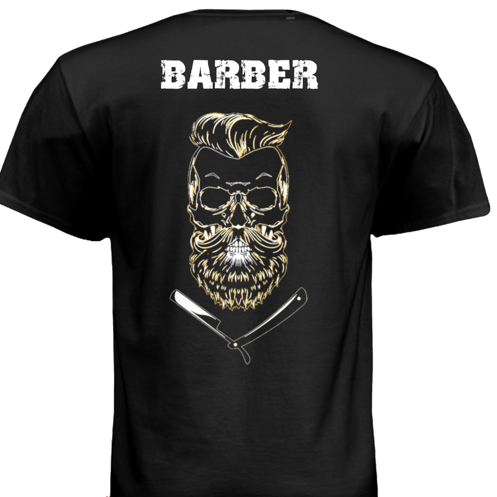 gear, RushOrderTees, The Shaving Co. Skull Barber Tee - The Shaving Co USA
