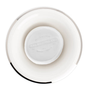 Shaving Bowl- White Porcelain Platinum Rim