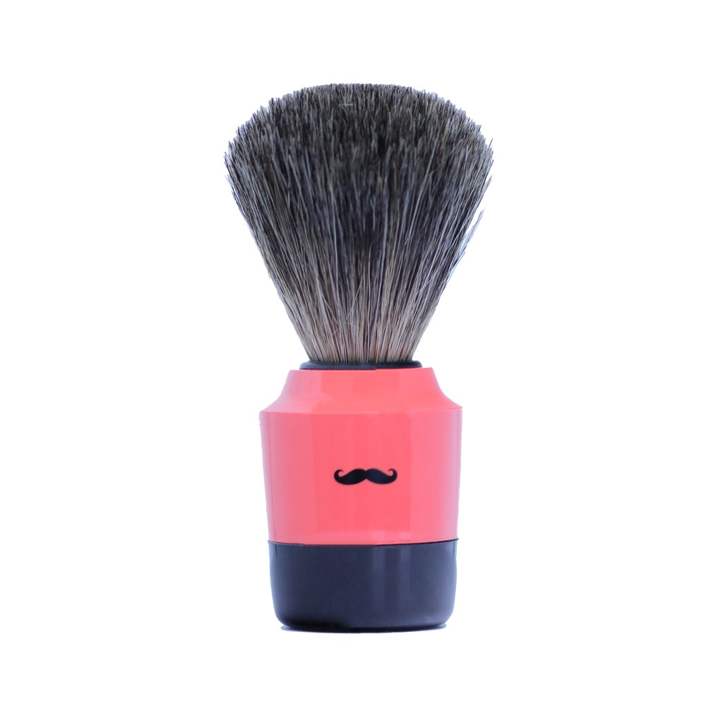 Art Collection Shaving Brush- Pure Badger-Coral- 21mm