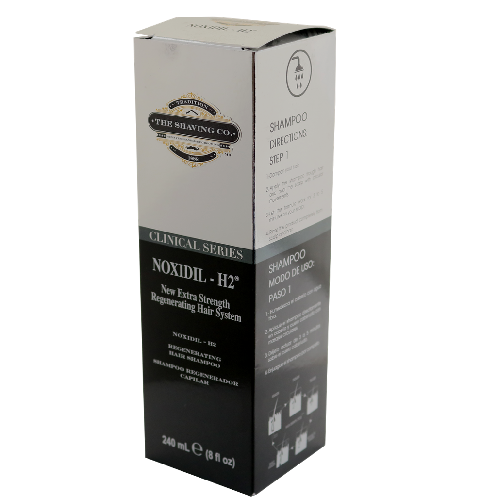 noxidil, The Shaving Co., The Shaving Co. Noxidil-H2® Hair Regenerating Shampoo 8oz/240ml - The Shaving Co USA