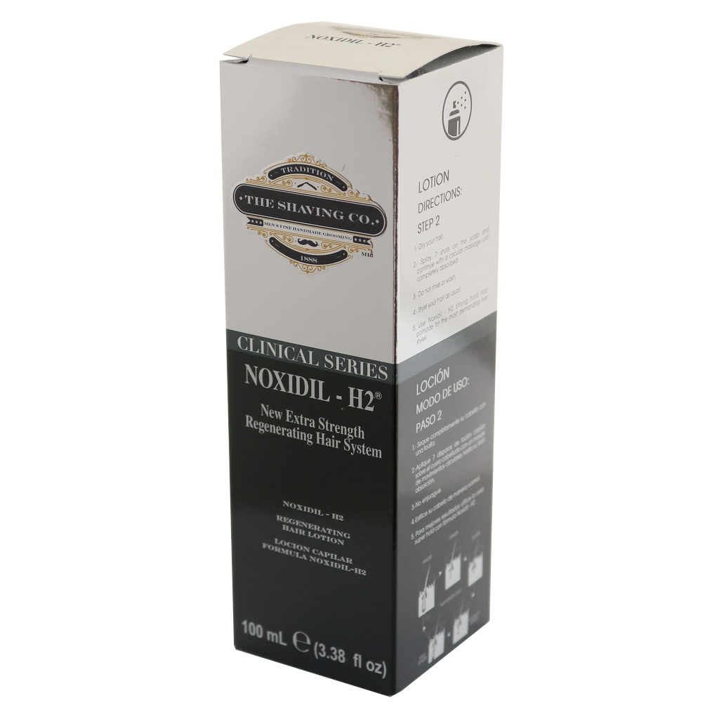 noxidil, The Shaving Co., The Shaving Co. Noxidil-H2® Hair Regenerating Lotion 4oz/120ml - The Shaving Co USA
