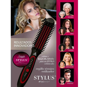 FHI HEAT Stylus Thermal Styling Brush, Black