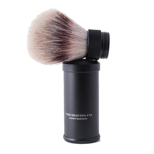 Travel Shaving Brush- Aluminum Black 21mm