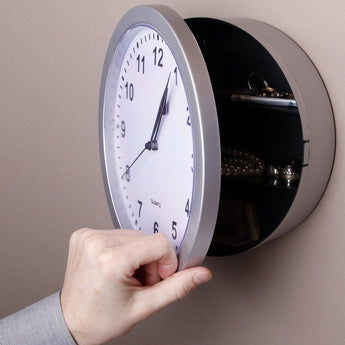 Hidden Secret Wall Clock Safe