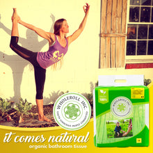 WHOLEROLL Organic Bamboo Toilet Paper as Natural as Yoga Stance