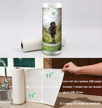 WHOLEROLL Reusable Bambo Paper Towel Size and Instructions