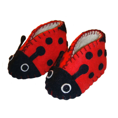 Ladybug Zooties Baby Booties - Silk Road Bazaar - Native Grace Fair Trade